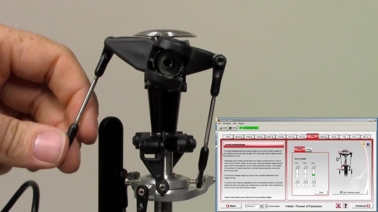Videos Main- and tail rotor basic setup | VStabi